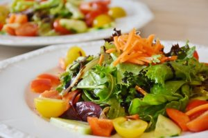 Avocado salad with Grapefruit and Red Onion Salad